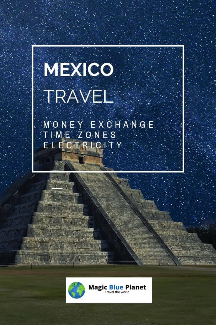 Mexico money exchange, time zones and power outlets Pinterest 3 EN