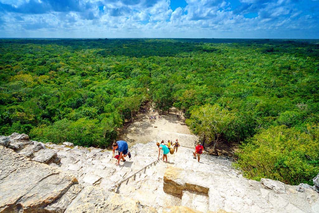 Cobá - The view from the top of the pyramid is breathtaking