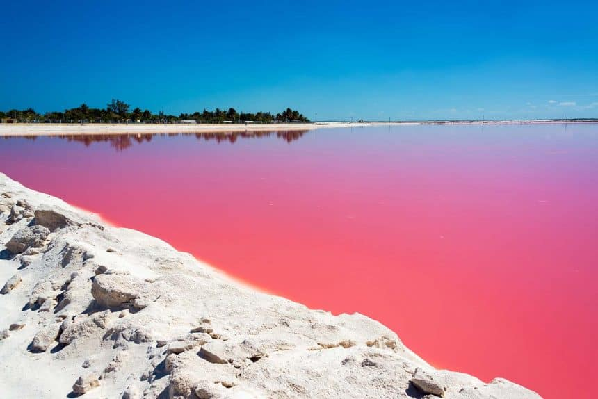 What to do in Cancun, Mexico - Excursion to the Pink Lagoons in Las Coloradas in Yucatan