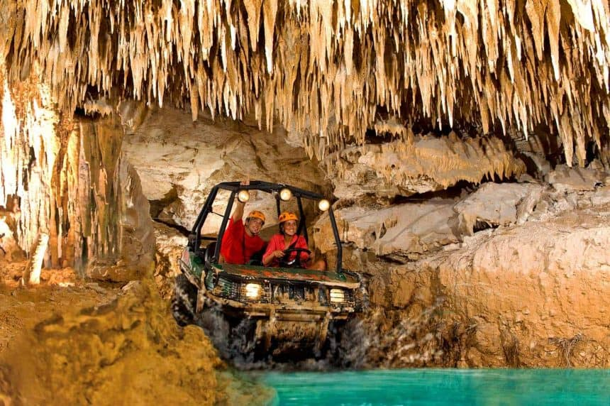 Things to do in Cancun, Mexico - Drive an ATV through the djungle of Xplor theme park