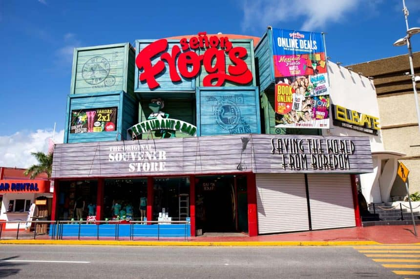 Cancun - Senor Frog's Restaurant und Bar in der Hotelzone