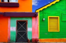 Isla Mujeres Mexico - colorful caribbean houses
