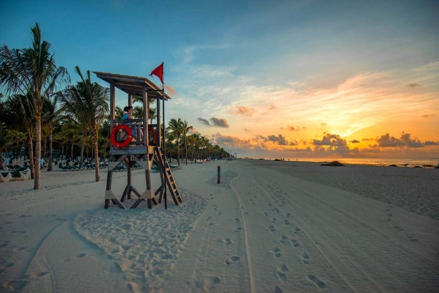 Playa del Carmen Mexico - Sunset on the beach