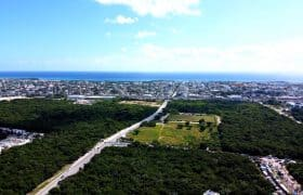 Playa del Carmen Mexico - View over the town to the sea