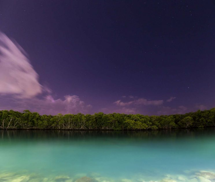 What to see in Cancun, Mexico: Night over the Nichupté Lagoon in the Hotel Zone