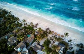 Tulum, Mexiko - Hotels am Strand
