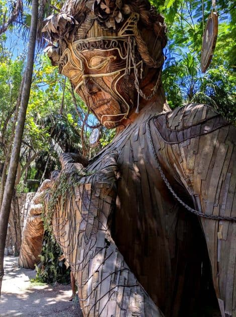 Sculpture in Tulum, Mexico